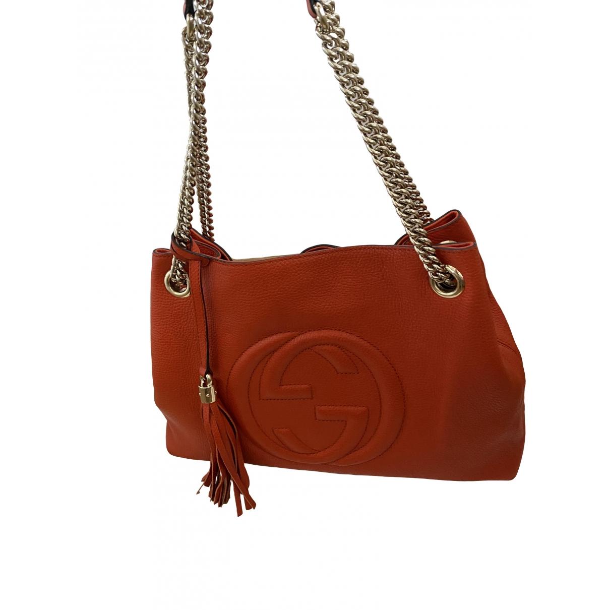 Gucci Soho Orange Leather handbag for Women \N
