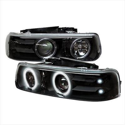 Spyder Auto Group CCFL LED Projector Headlights (Black) - 5009579
