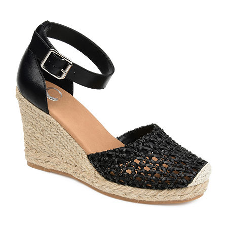 Journee Collection Womens Sierra Pumps Wedge Heel, 8 1/2 Medium, Black