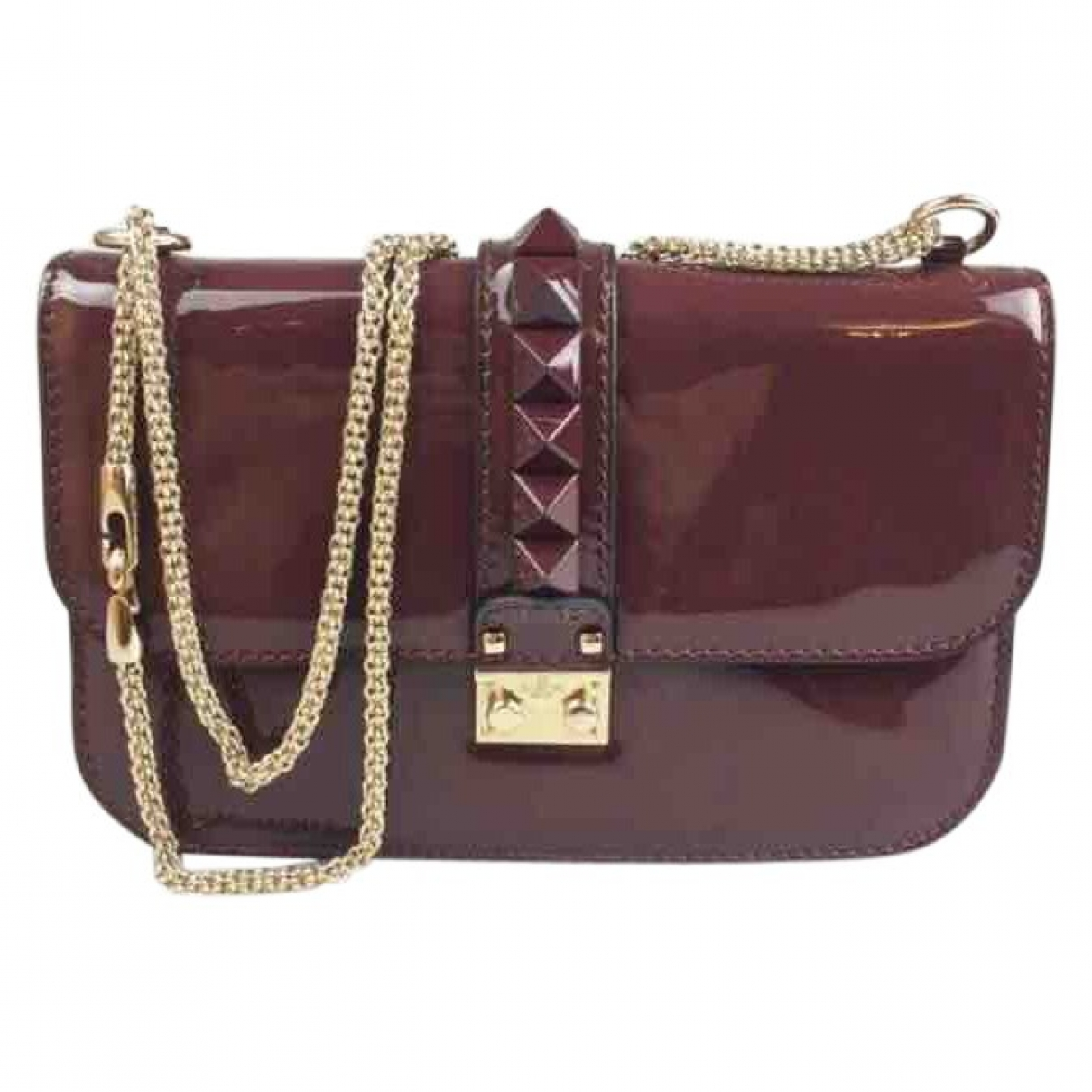 Valentino Garavani Glam Lock Patent leather handbag for Women \N