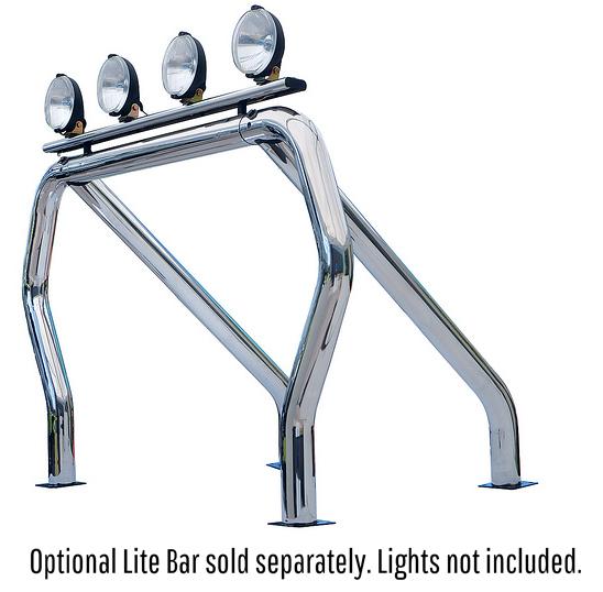 Go Rhino 9009560SSS! Bed Bars- Single Bar/Single Kicker (Between Wheel Wells)