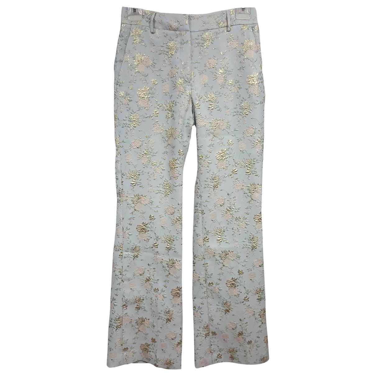 Paul & Joe \N Blue Silk Trousers for Women 36 FR