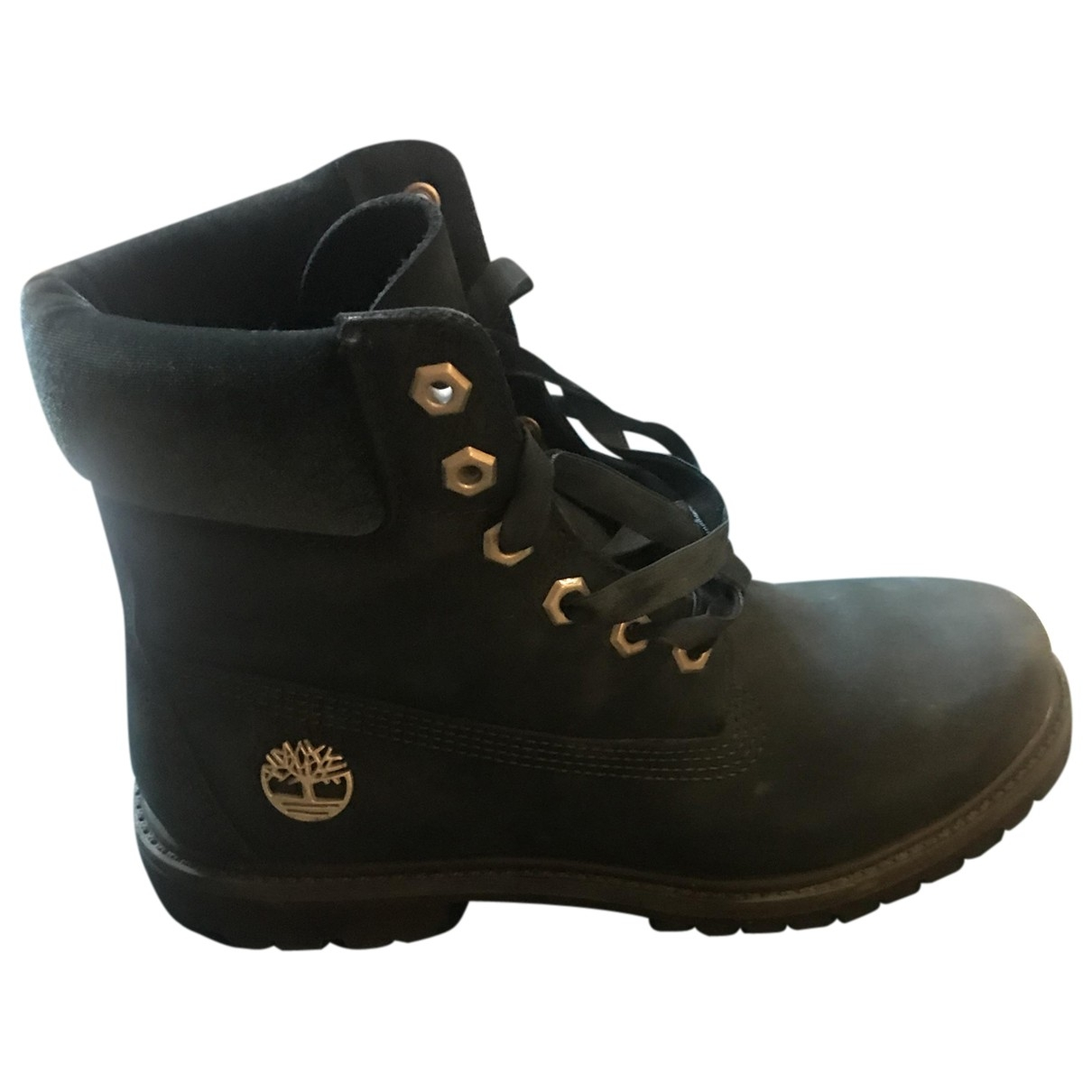 Timberland \N Green Leather Ankle boots for Women 38 EU