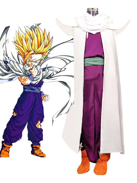 Milanoo Dragon Ball Son Gohan Piccolo Lord Cosplay Costume Halloween
