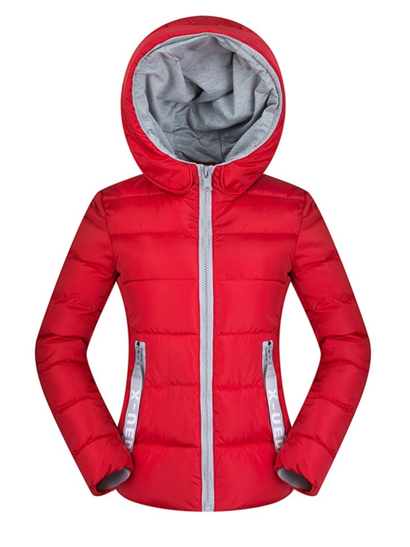 Ericdress Pocket Zipper Slim Standard Cotton Padded Jacket