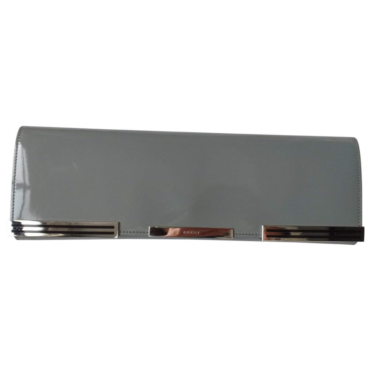 Gucci \N Grey Patent leather Clutch bag for Women \N