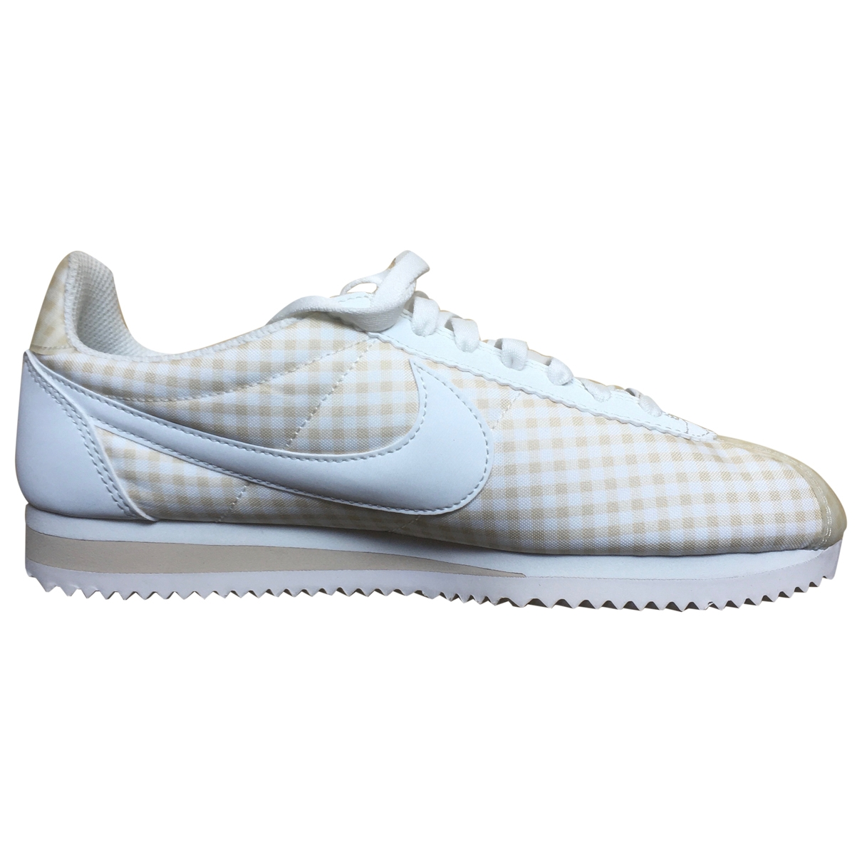 Nike Cortez Beige Leather Trainers for Women 38.5 EU