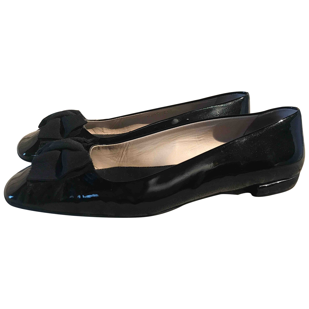 Prada \N Black Patent leather Ballet flats for Women 38.5 EU