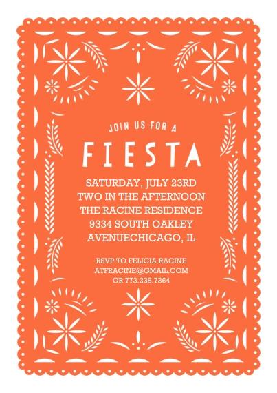 Kids Birthday Party Invites 5x7 Cards, Standard Cardstock 85lb, Card & Stationery -Paper Art Fiesta Invite
