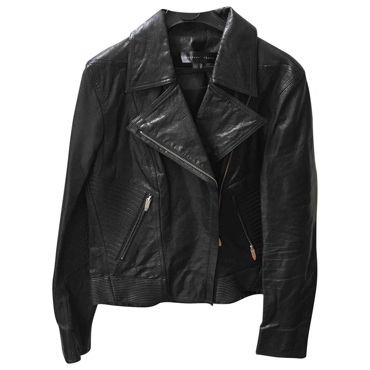 Theyskens' Theory \N Black Leather Leather jacket for Women M International