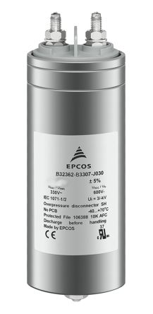 EPCOS 150μF Polypropylene Capacitor PP 460V ac ±5% Tolerance B32362 Series