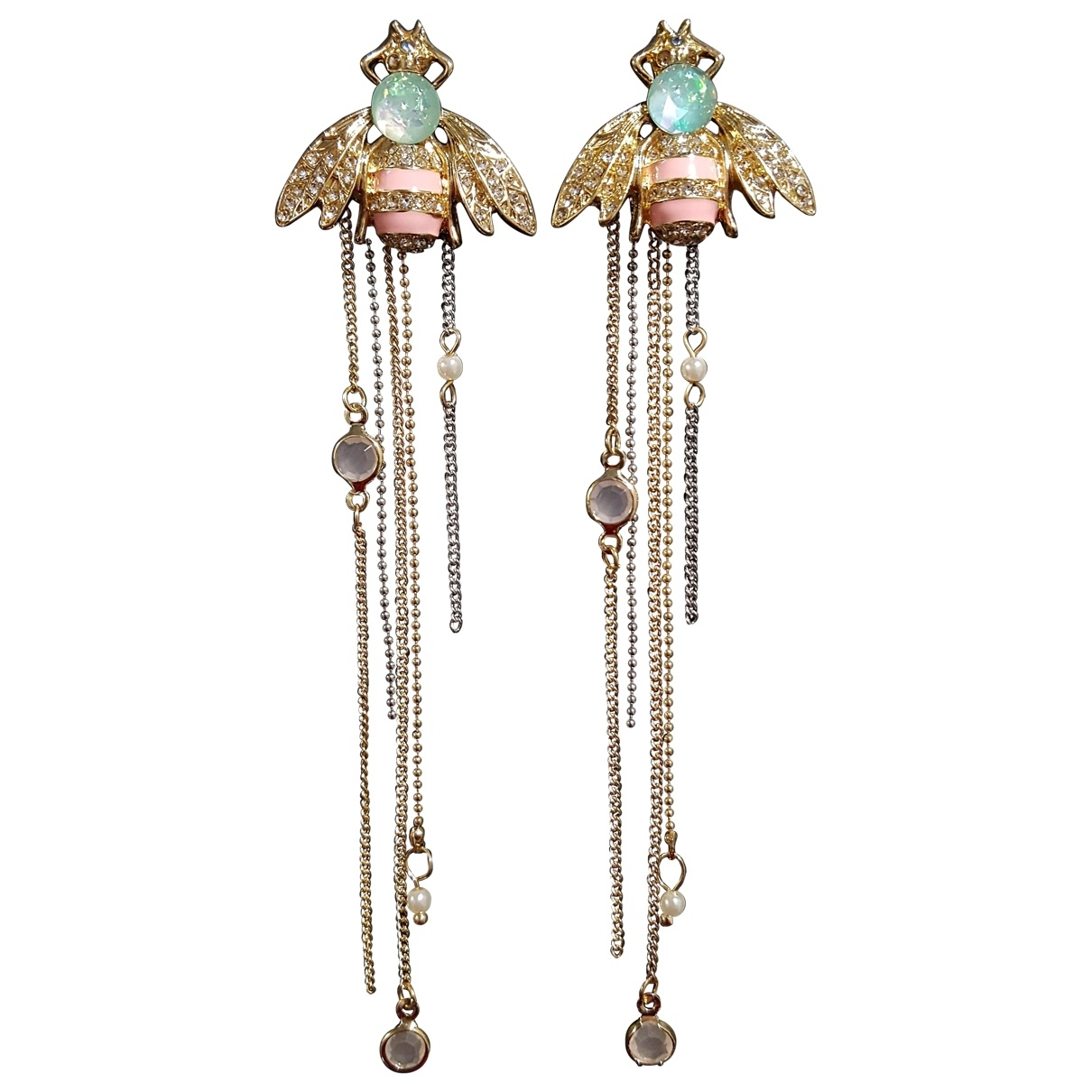 Non Signé / Unsigned Motifs Animaliers Gold Metal Earrings for Women \N