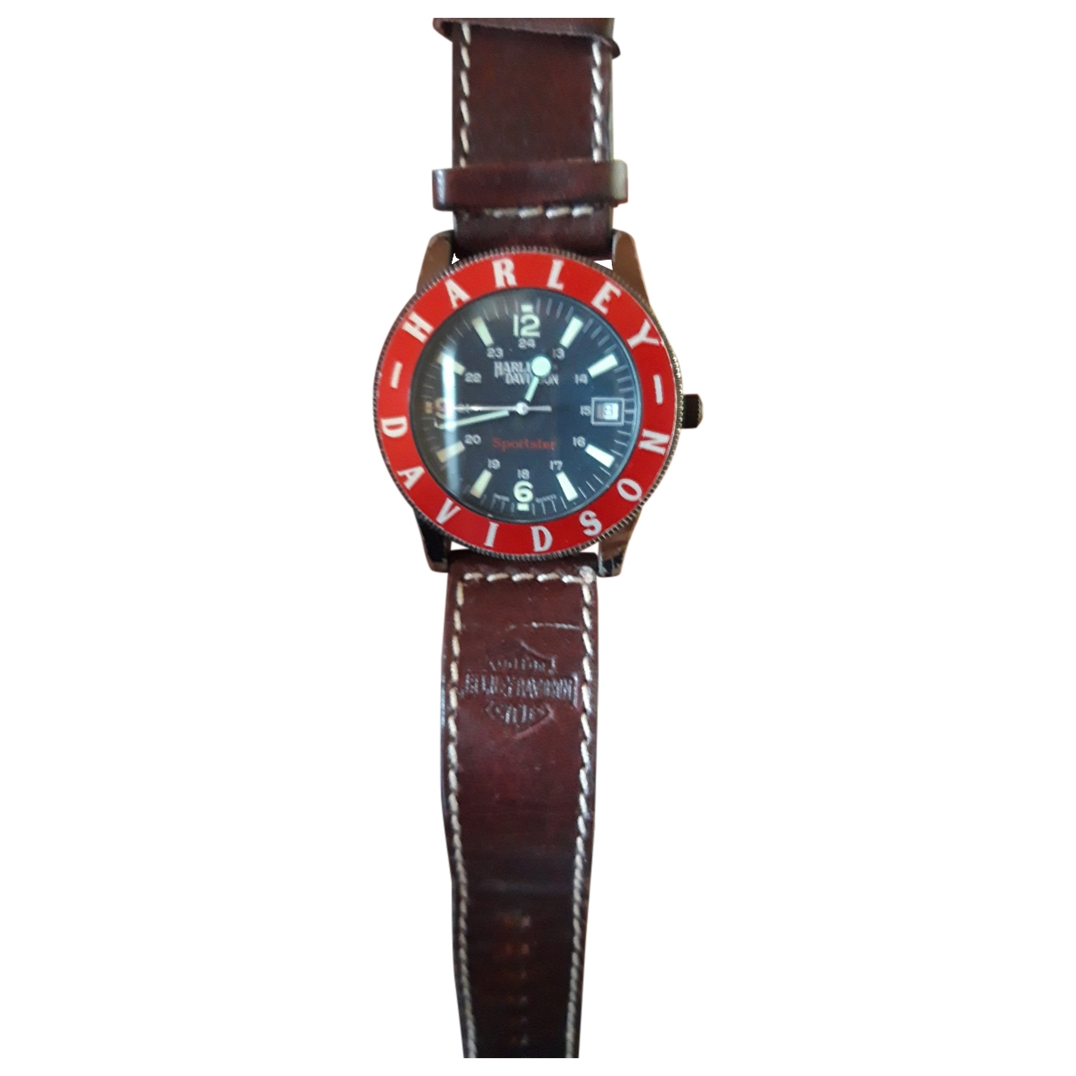 Non Signé / Unsigned \N Steel watch for Women \N