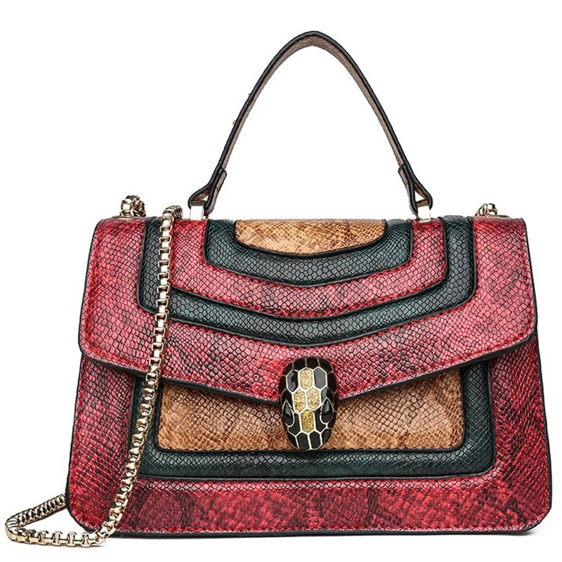 Ericdress Chain PU Serpentine Rectangle Tote Bag