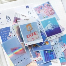 40pcs DIY Mixed Landscape Pattern Sticker