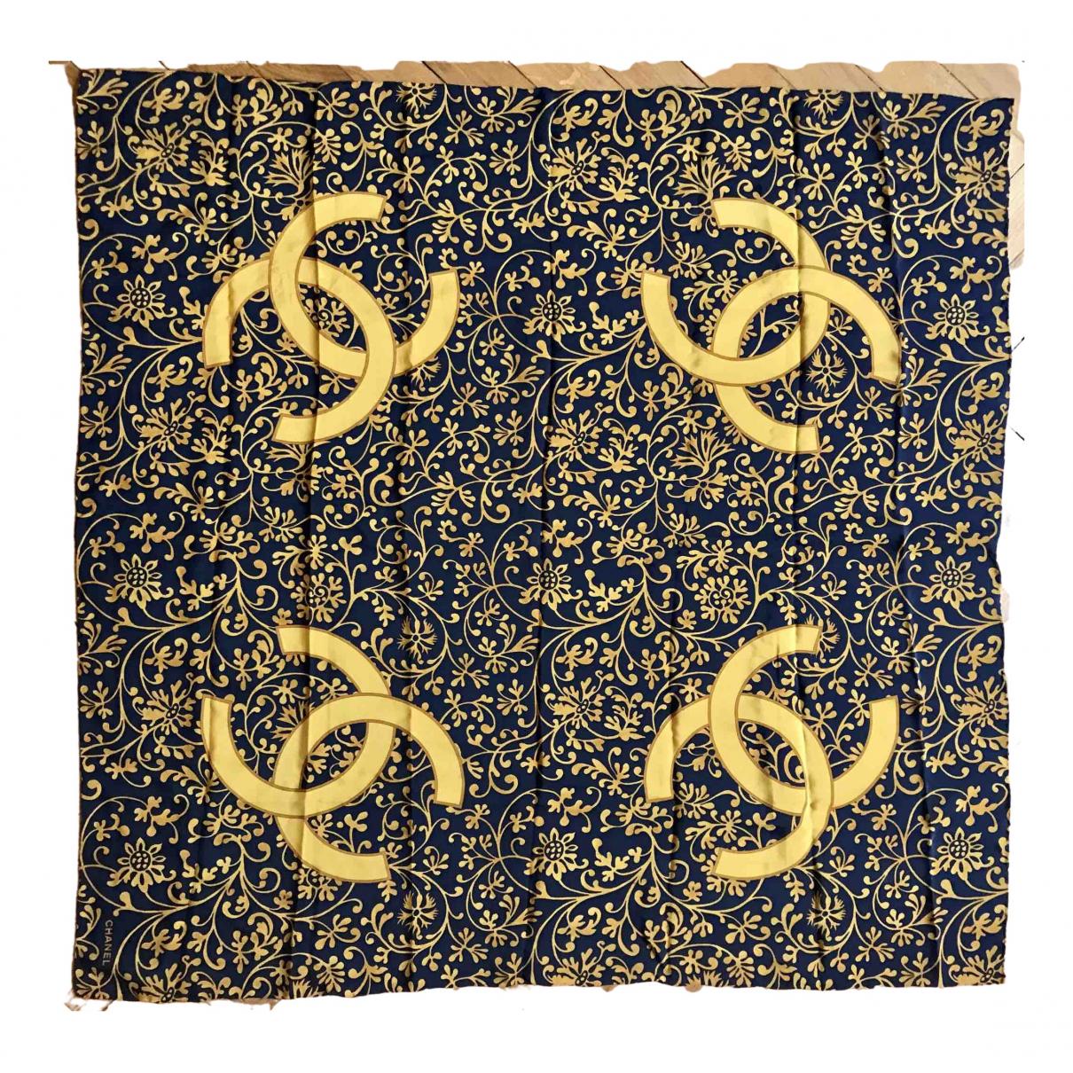 Chanel \N Gold Silk Silk handkerchief for Women \N
