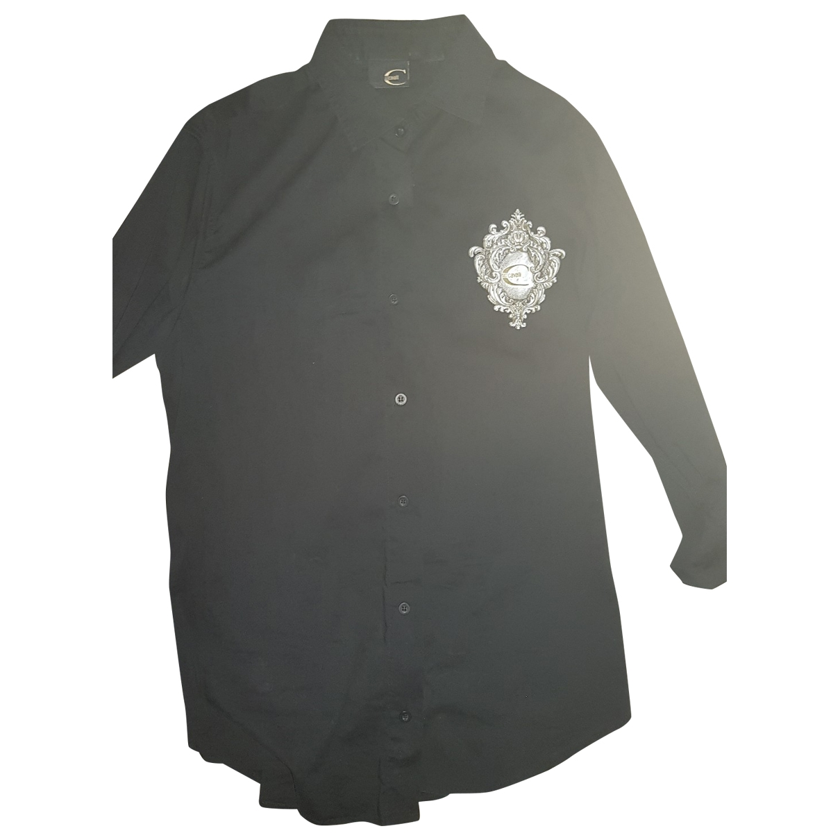 Just Cavalli \N Black Cotton Shirts for Men S International