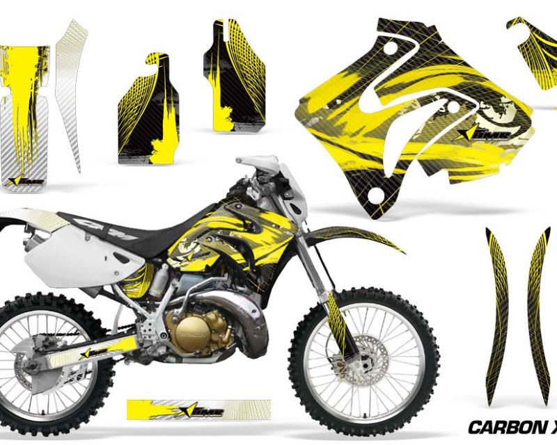 AMR Racing Dirt Bike Graphics Kit Decal Sticker Wrap For Honda CRM250AR 1996-1999áCARBONX YELLOW
