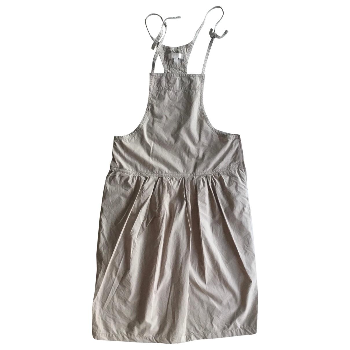 Claudie Pierlot \N Ecru Cotton dress for Women 1 0-5