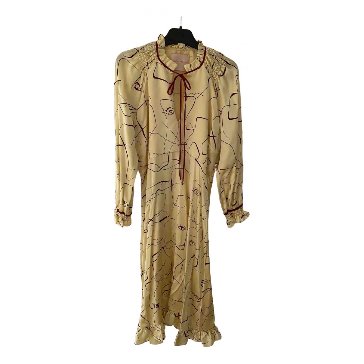 Roksanda \N Yellow Silk dress for Women 12 UK