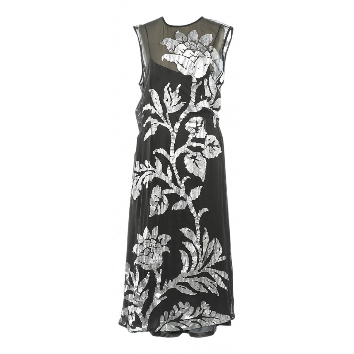 Dries Van Noten \N Khaki Silk dress for Women 40 FR