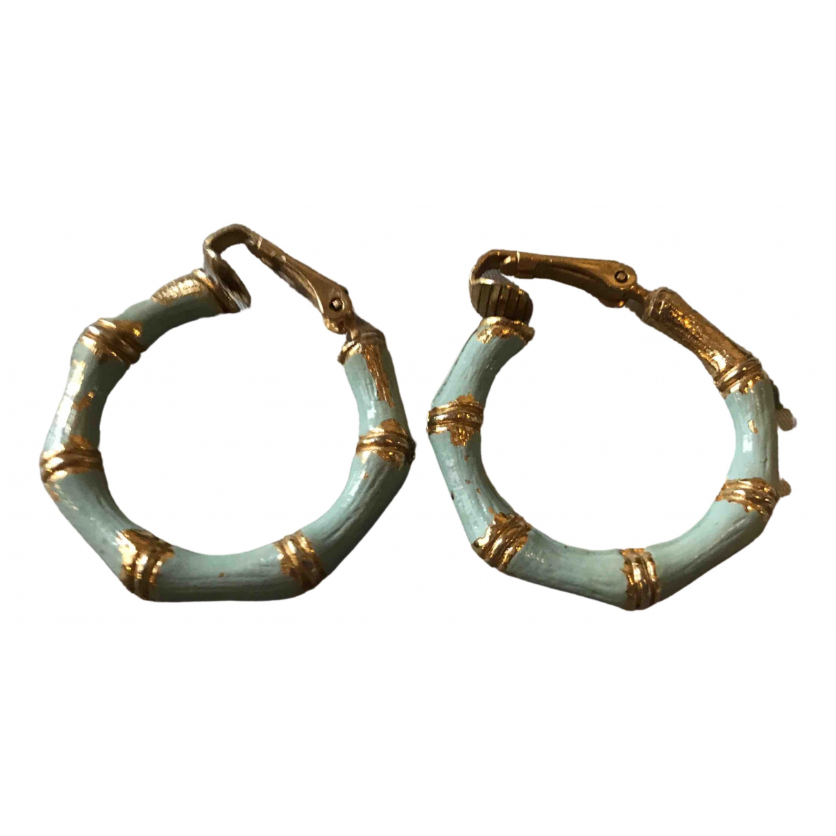 Non Signé / Unsigned Créoles Turquoise Gold plated Earrings for Women \N