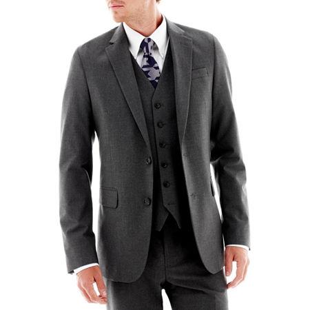 JF J. Ferrar Stretch Gabardine Suit Jacket - Super Slim, 44 Regular, Black