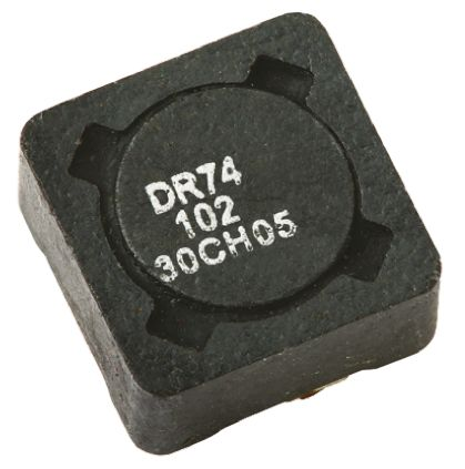 Eaton Bussmann Series , DR73/74/125/127, 74 Shielded Wire-wound SMD Inductor with a Ferrite Core, 4.7 μH ±20% Wire-Wound (5)
