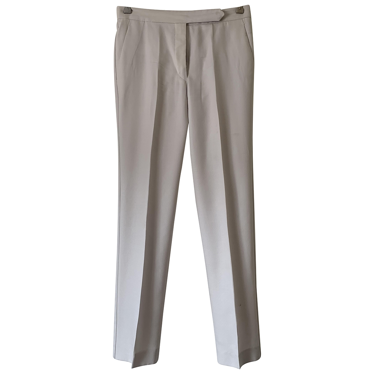 Isabel Marant \N Ecru Wool Trousers for Women 38 FR