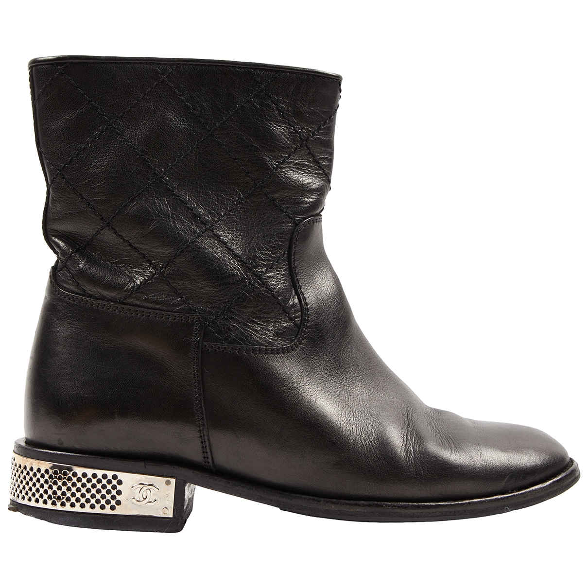 Chanel \N Black Leather Ankle boots for Women 36 EU