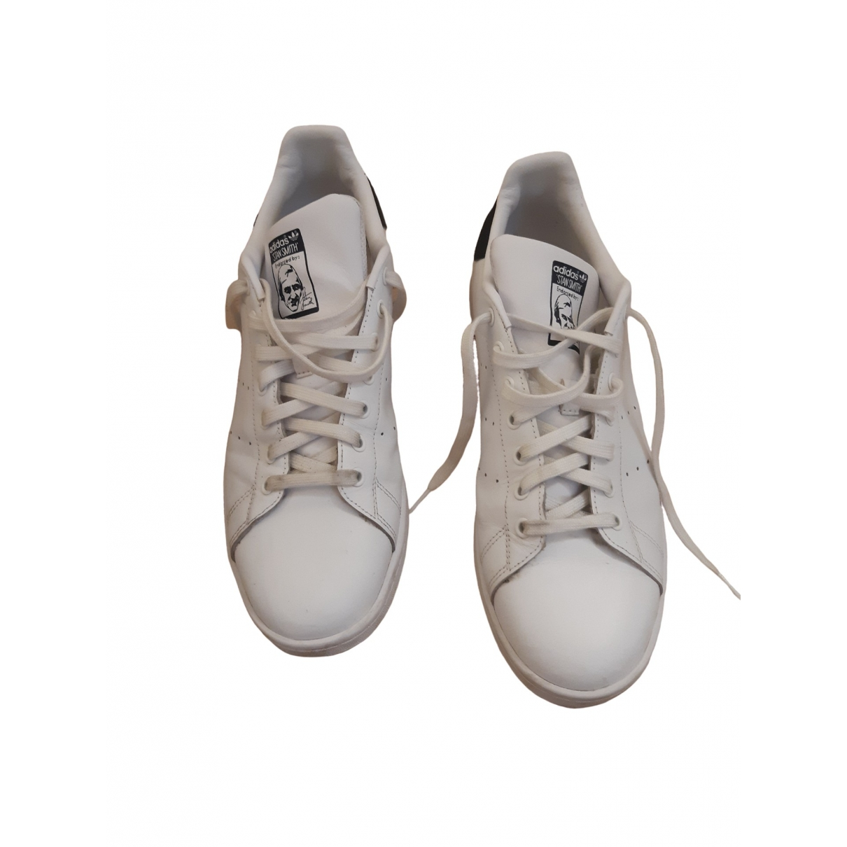 Adidas Stan Smith White Leather Trainers for Men 12.5 US