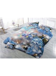 Christmas Decor Wear-resistant Breathable High Quality 60s Cotton 4-Piece 3D Bedding Sets