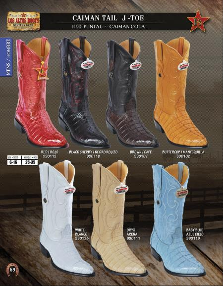 JToe Genuine Caiman TaMens Western Cowboy Boots Diff. Colors/Sizes