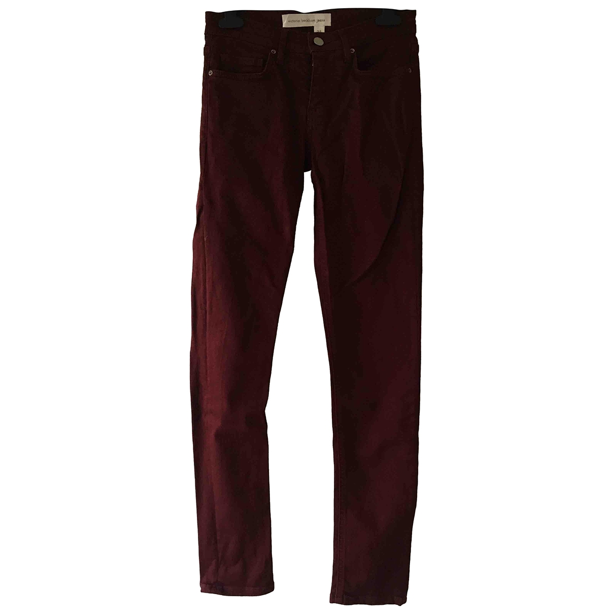 Victoria Beckham \N Burgundy Cotton - elasthane Jeans for Women 25 US