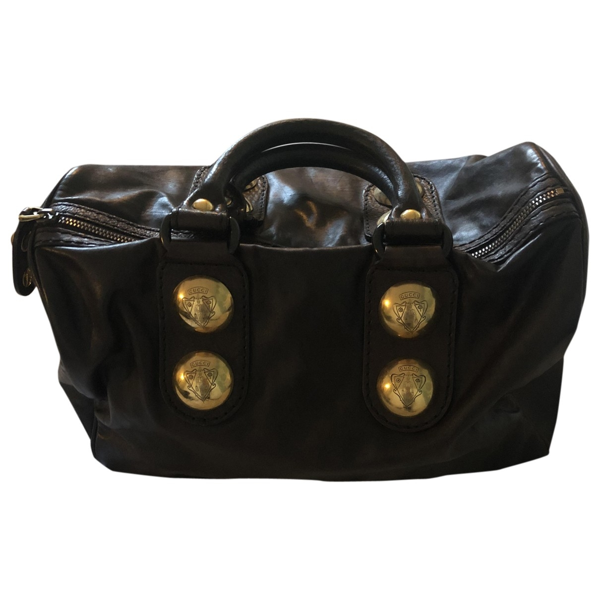 Gucci Boston Burgundy Leather handbag for Women \N