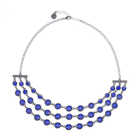 Liz Claiborne 17 Inch Cable Round Collar Necklace, One Size , Blue