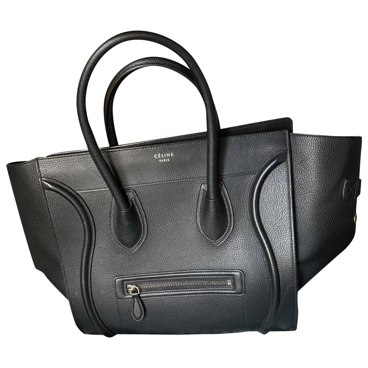 Celine Luggage Black Leather handbag for Women \N