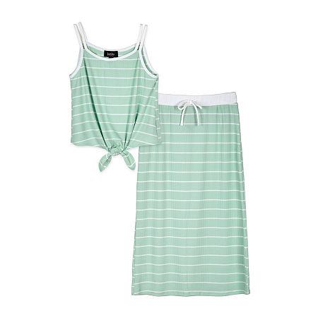 by&by Big Girls 2-pc. Skirt Set, Medium , Green