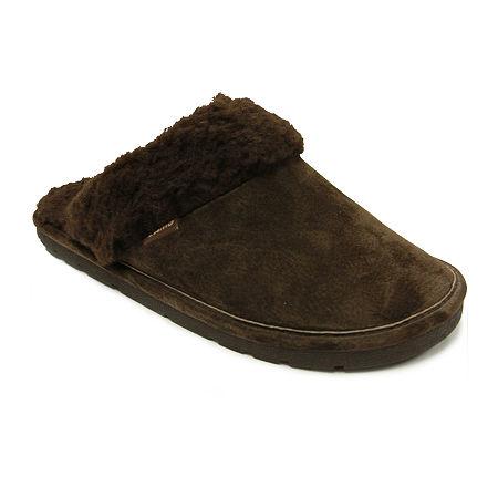 Lamo Scuff Suede Slippers, Medium , Brown