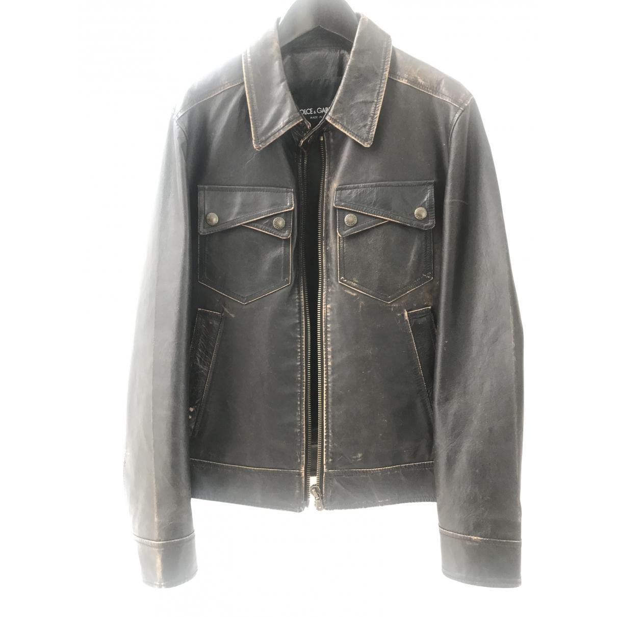 Dolce & Gabbana \N Brown Leather jacket  for Men M International