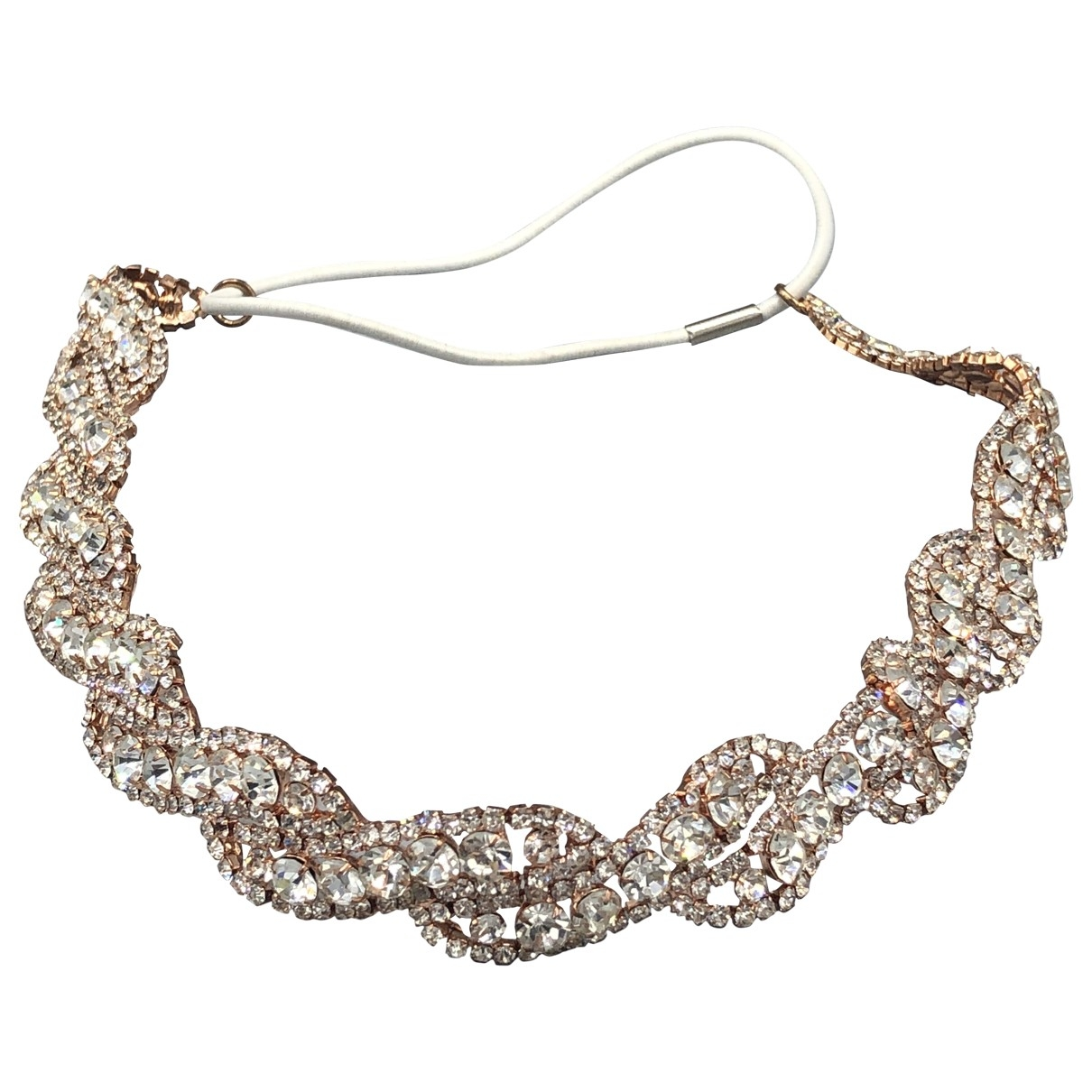 Non Signé / Unsigned \N Metallic Crystal Hair accessories for Women \N