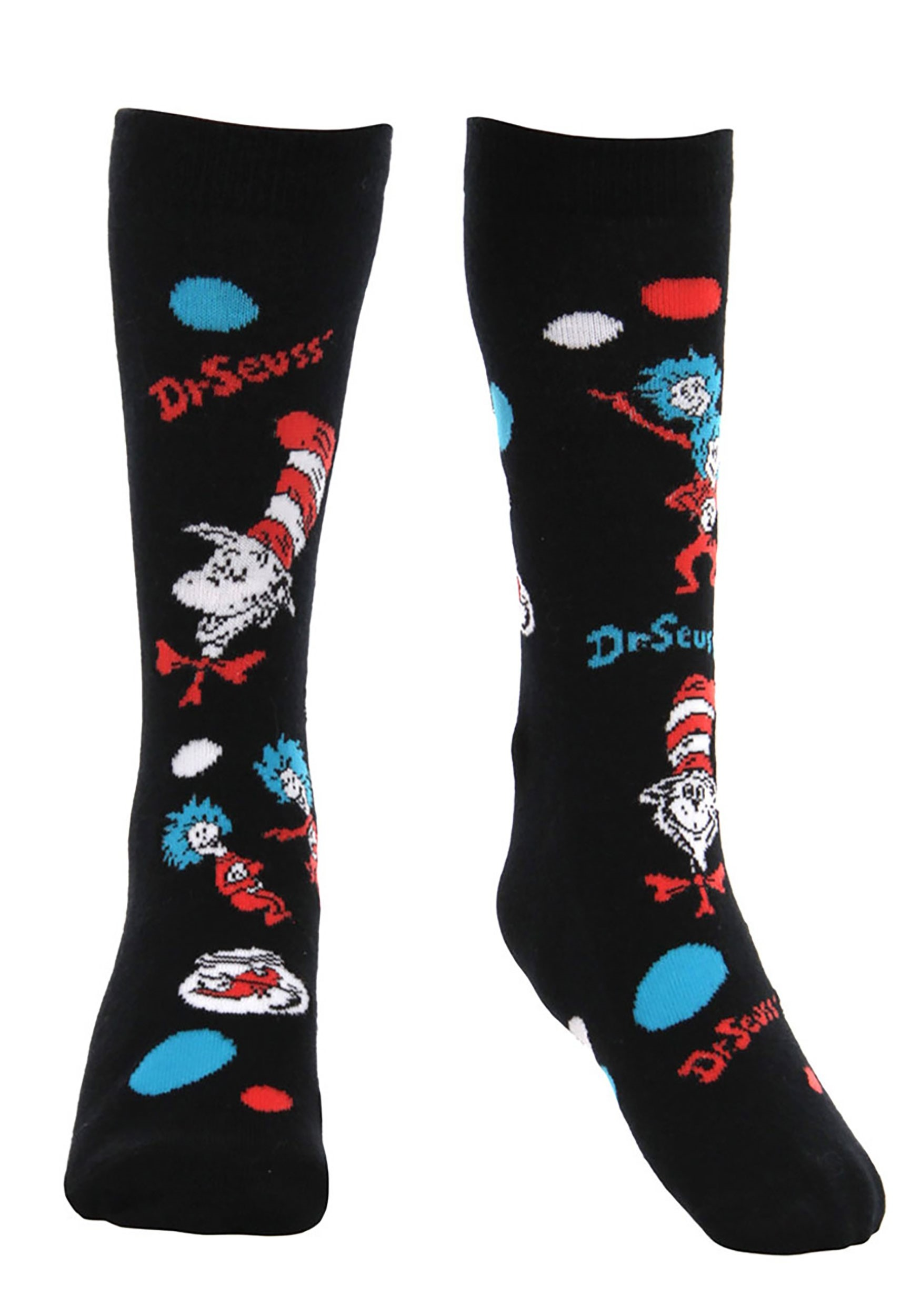 The Cat In The Hat Pattern Socks for Kids'