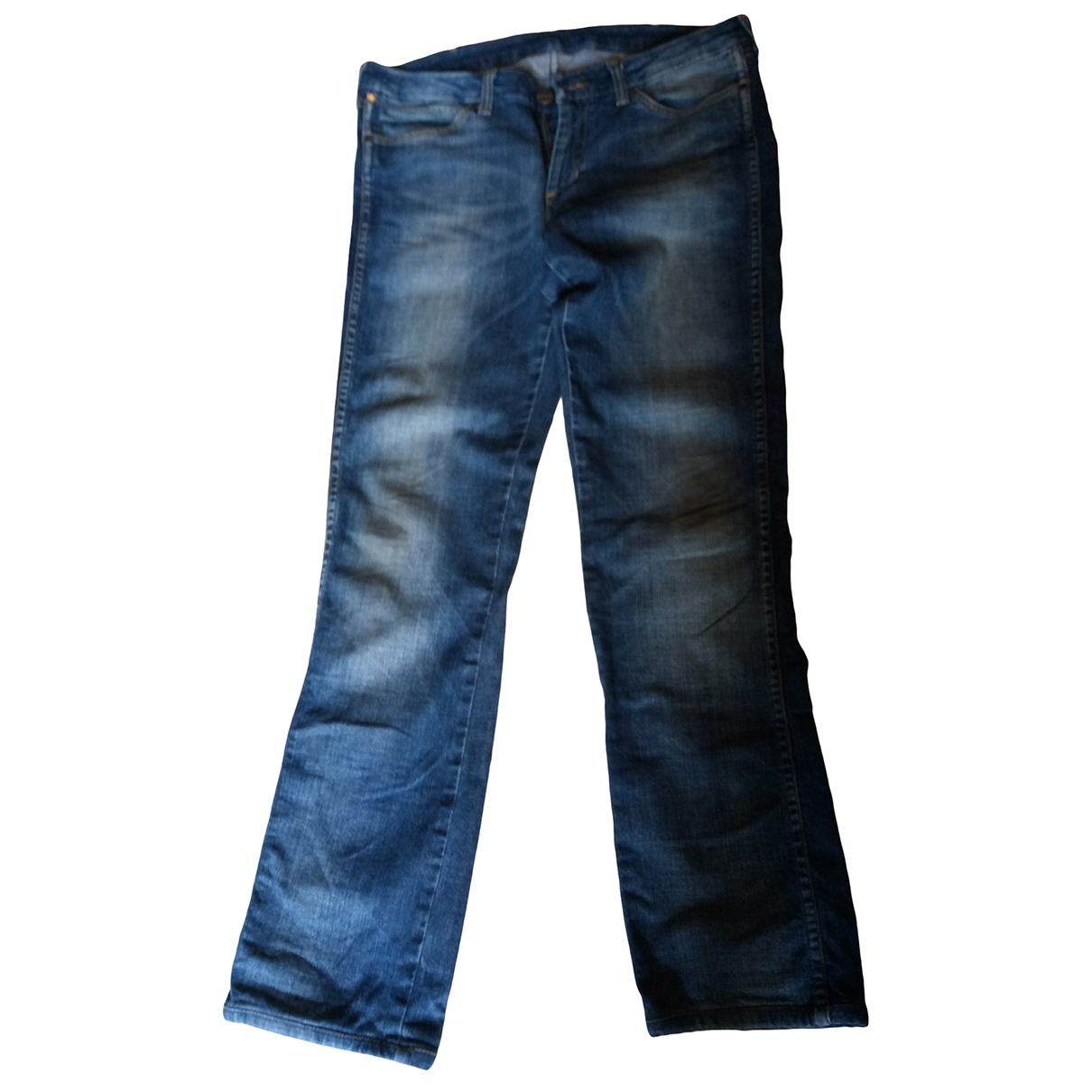 Wrangler \N Blue Cotton Jeans for Men 33 US