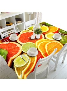 Colorful Polyester Grapefruit Pattern 3D Tablecloth