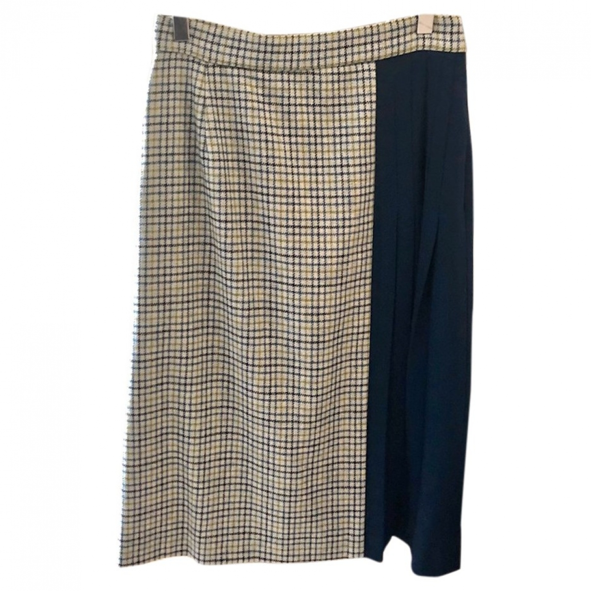 Non Signé / Unsigned \N Blue Wool skirt for Women 8 UK