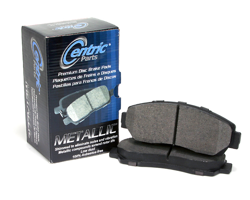 Centric Premium Semi Metallic Brake Pads with Shims Rear Jaguar XK 2012