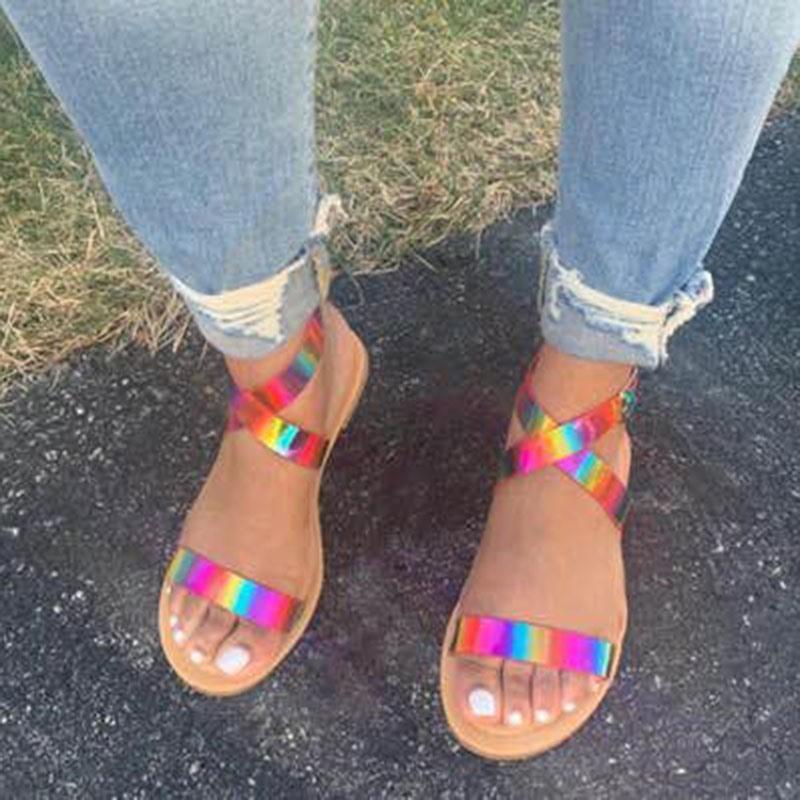 Ericdress Buckle Block Heel Open Toe Casual Sandals