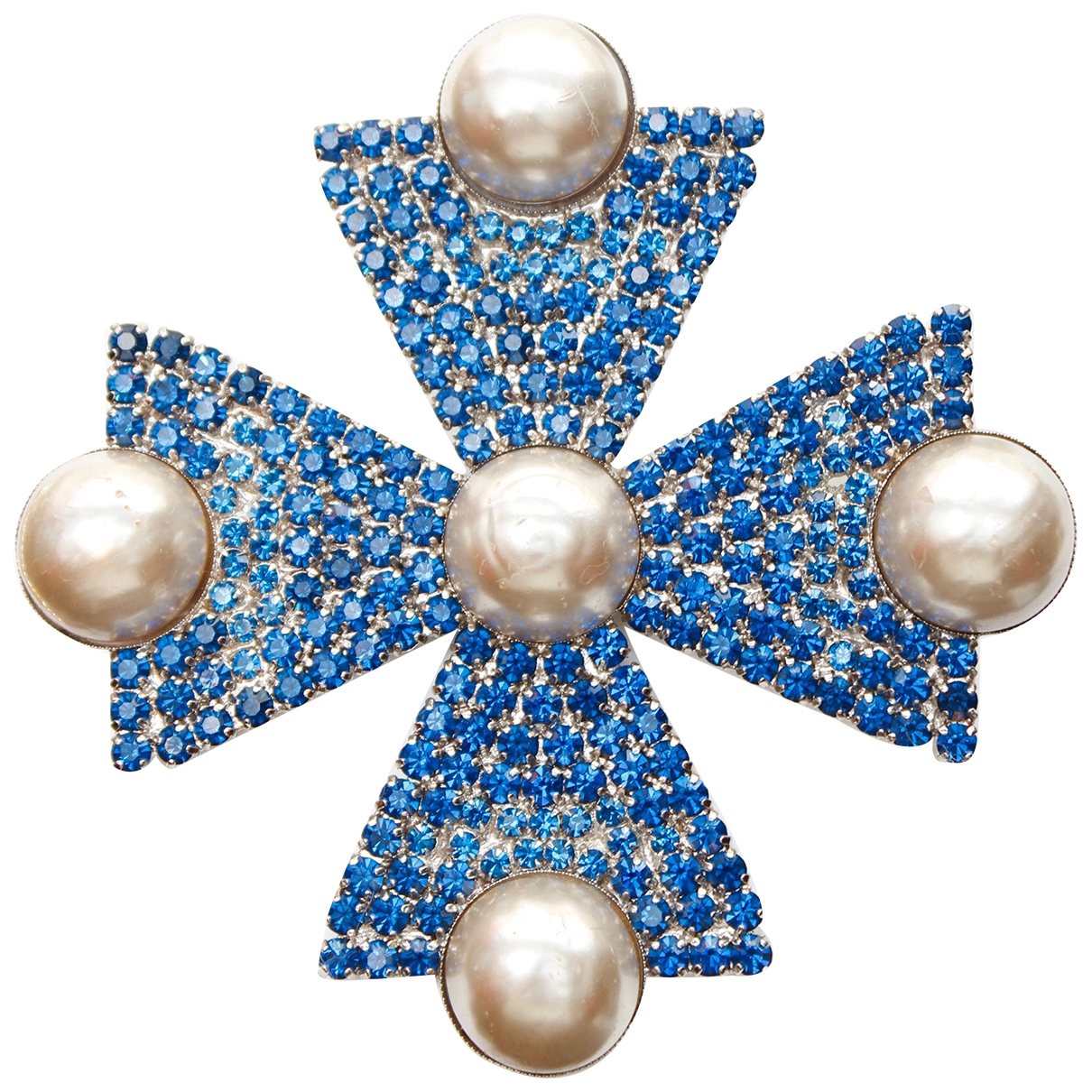 Yves Saint Laurent \N Blue Metal Pins & brooches for Women \N