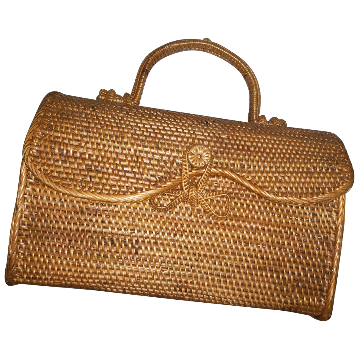 Non Signé / Unsigned Hippie Chic Brown Wicker handbag for Women \N