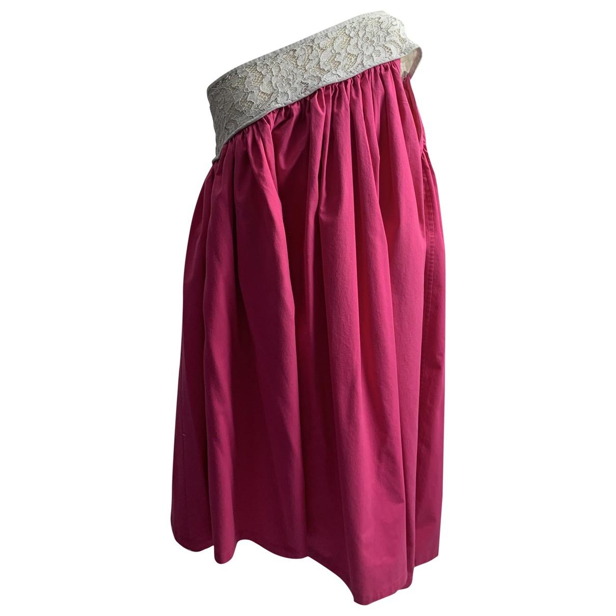 Yves Saint Laurent \N Pink Cotton dress for Women 42 FR